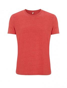 SALVAGE Unisex tričko z recyklované biobavlny a PET - červená melange
