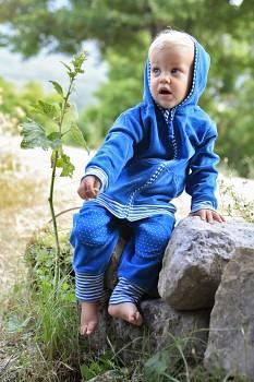 NICKY dětská mikinka ze 100% biobavlny - modrá saphhire