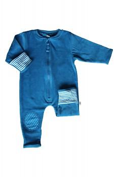 NICKY kojenecký overal ze 100% biobavlny - modrá saphhire