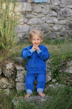NICKY dětské tričko ze 100% biobavlny - modrá saphhire