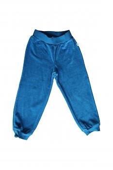 NICKY dětské kalhoty ze 100% biobavlny - modrá saphhire