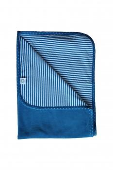 NICKY dětská přikrývka ze 100% biobavlny - modrá sapphire