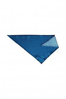 NICKY dětský šátek ze 100% biobavlny - modrá sapphire