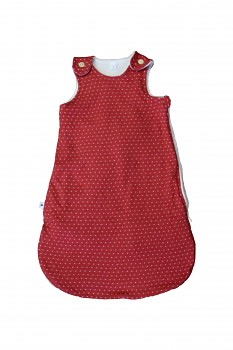 NICKY kojenecký spací vak ze 100% biobavlny - červená