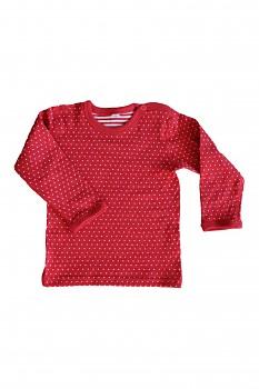 WENDY dětské oboustranné tričko ze 100% biobavlny - červená ibišková