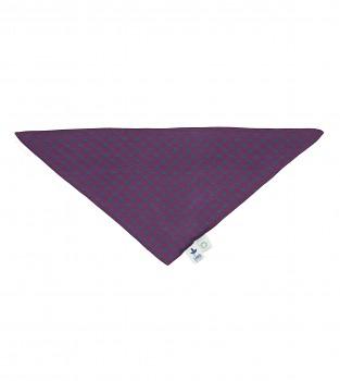 NICKY dětský šátek ze 100% biobavlny - fialová/tyrkysová