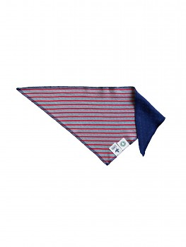 NICKY dětský šátek ze 100% biobavlny - modrá ocean