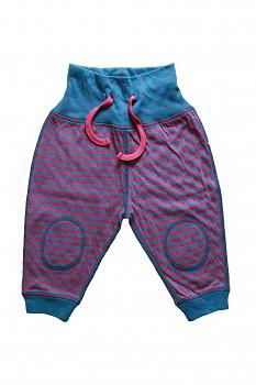 NICKY oboustranné kojenecké kalhoty ze 100% biobavlny - červeno modrá helgoland