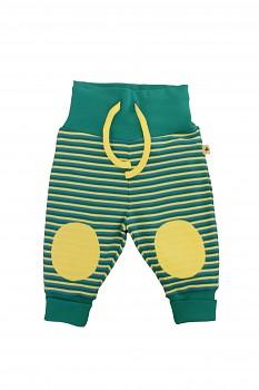 NICKY kojenecké kalhoty ze 100% biobavlny - žluto zelená scandinavia