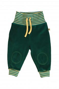 NICKY kojenecké kalhoty ze 100% biobavlny - zelená scandinavia
