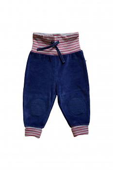NICKY kojenecké kalhoty ze 100% biobavlny - modrá ocean