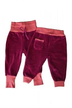 NICKY kojenecké kalhoty ze 100% biobavlny - fuchsiová