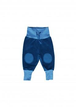 NICKY kojenecké kalhoty ze 100% biobavlny - modrá atlantic
