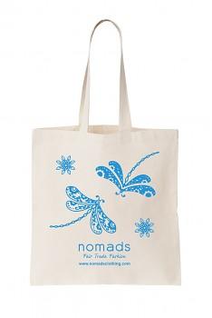 Nákupní taška Nomads - přírodní s modrým potiskem