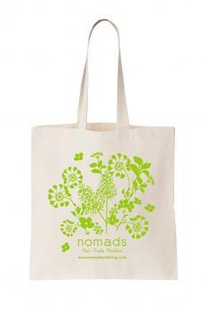 Nákupní taška Nomads - přírodní se zeleným potiskem