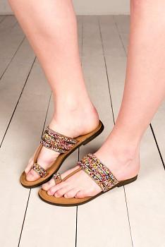 Nomads ETHNIC vyšívané sandály