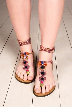 Nomads MIRROR vyšívané sandálky