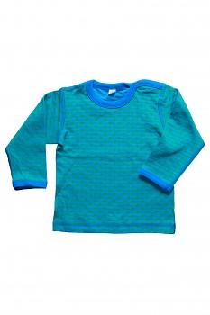 WENDEL dětské oboustranné tričko ze 100% biobavlny - modrozelená baltic