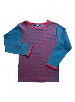 WENDEL dětské oboustranné tričko ze 100% biobavlny - modrozelená helgoland