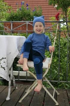 RINDEL dětské tričko ze 100% biobavlny - tmavě modrá atlantic