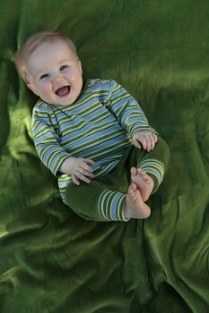RINDEL dětské tričko ze 100% biobavlny - zelená wiesenringel
