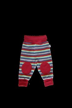 RINGEL kojenecké kalhoty ze 100% biobavlny - červené proužky