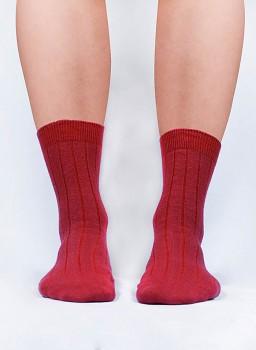 Klasické konopné ponožky - červená