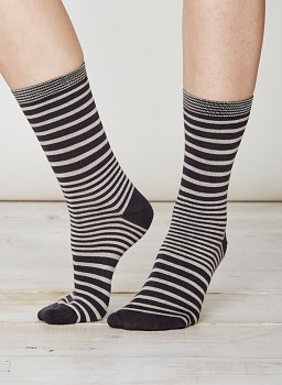 LILIAN Dámské bambusové ponožky - šedá stone