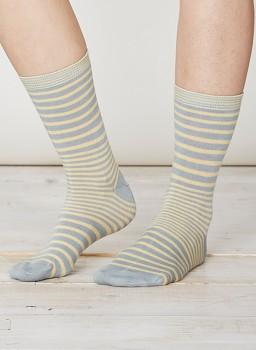 LILIAN Dámské bambusové ponožky - světle modrá maize