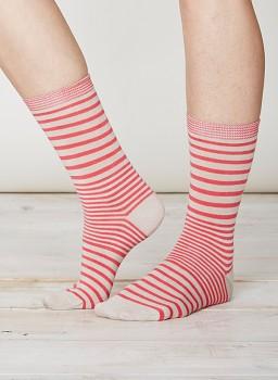 LILIAN Dámské bambusové ponožky - růžová raspberry