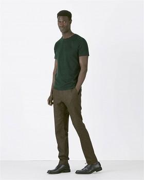 STANLEY LEADS Pánské tričko s krátkým rukávem ze 100% biobavlny - tmavě zelená scarab