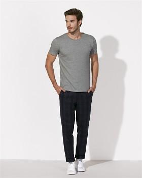 STANLEY LEADS Pánské tričko s krátkým rukávem ze 100% biobavlny -šedá mid heather grey