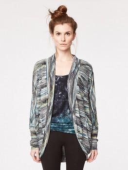 MORI dámský svetr z bambusu a biobavlny - proužek