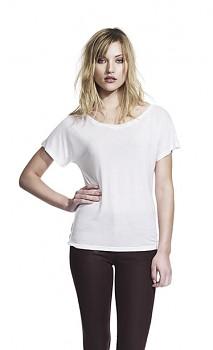 CC Dámské tričko ze 100% tencelu - bílá