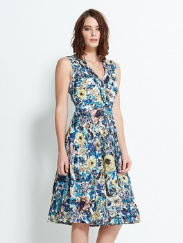 VALERIA - dámské letní šaty - modrá sea