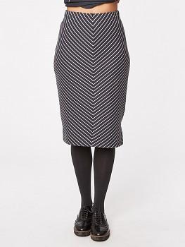 DUCHAMP dámská úpletová sukně z biobavlny - šedý proužek