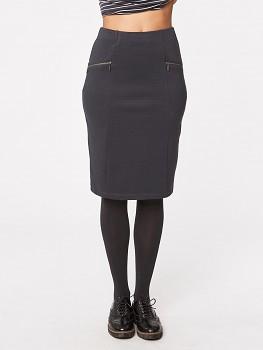 RILEY dámská sukně z biobavlny - tmavě šedá