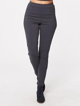 HANNAH dámské kalhoty z biobavlny - tmavě šedá
