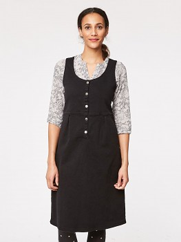SONIA dámská šatová sukně  z biobavlny - tmavě šedá