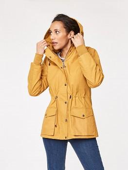 ISA dámská bunda ze 100% biobavlny s nepromokavou úpravou - žlutá ochre
