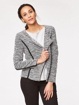 MELISSA dámské sako z recyklovaného polyesteru - šedá
