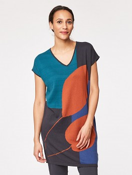 GALLERY dámská pletená tunika z biobavlny a vlny
