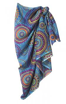 CIRCLE sarong - modrá, černá, červená