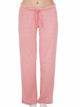 Albero dámské pyžamové kalhoty ze 100% biobavlny - růžová kostka