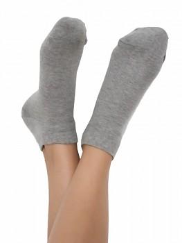 Kotníkové ponožky z biobavlny - šedá
