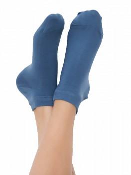 Kotníkové ponožky z biobavlny - světle modrá