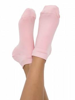 Kotníkové ponožky z biobavlny - růžová