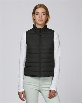 Stella WALKS dámská prošívaná vesta z recyklovaného polyesteru - černá