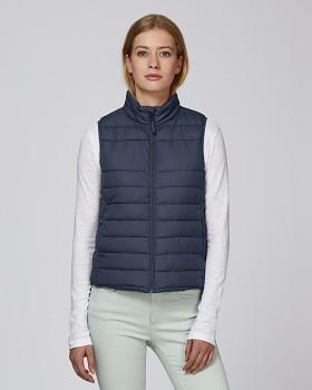 Stella WALKS dámská prošívaná vesta z recyklovaného polyesteru - tmavě modrá navy