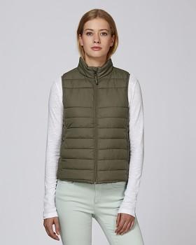 Stella WALKS dámská prošívaná vesta z recyklovaného polyesteru - britská khaki